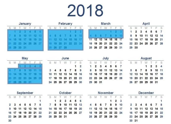 2018-calendar T1 092617
