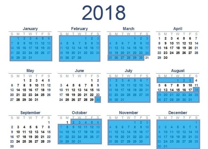 2018-calendar T2 092617