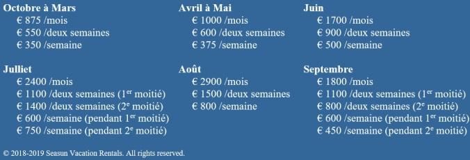2018-2019 prices T1 FR