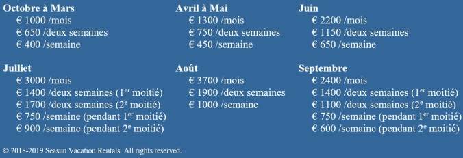 2018-2019 prices T2 FR