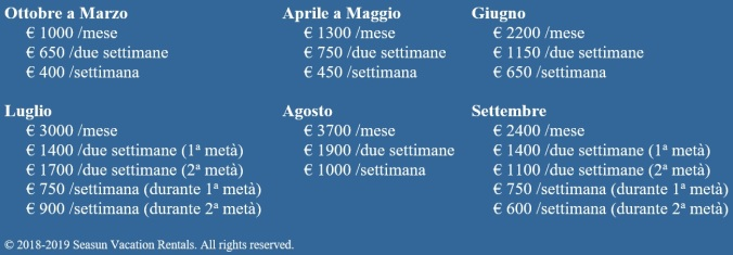 2018-2019 prices T2 ITA